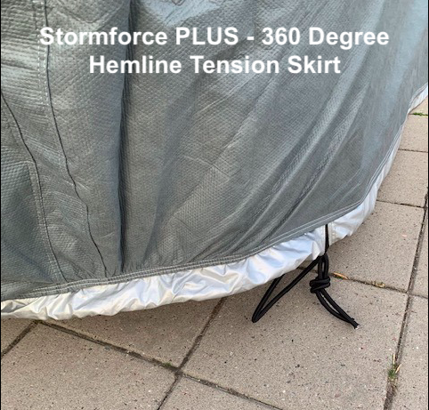 360 Degree Hemline Tension Skirt on the Wide Bodied Westfield Stormforce PLUS Car Cover