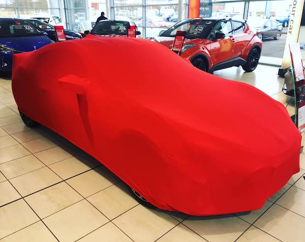 Subaru BRZ Softech Stretch Indoor Car Cover RED