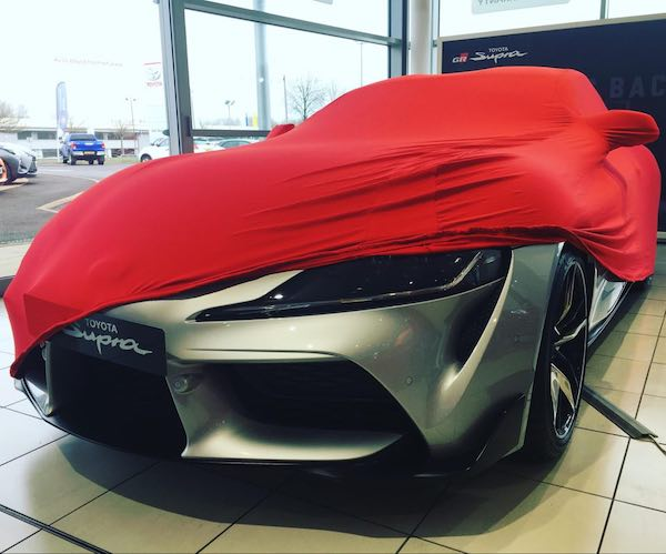 Toyota Supra 2020 Indoor Car Cover RED