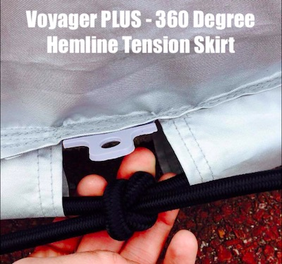 Voyager Plus Car Cover for the Fiat 124 Spider