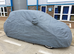 500 Abarth & Biposto STORMFORCE car cover for outdoor use.