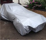 Wide Bodied Caterham, SV, CSR, Tailored VOYAGER lightweight indoor / outdoor car cover. ( also fits wide Westfield )
