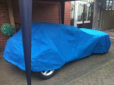 Indoor Car Cover Robin Hood with rear spare Wheel fitted